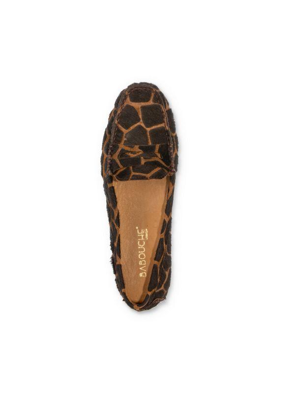 Babouche Abella moccasin giraf brown_3