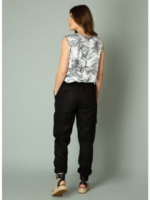 YEST Ilza blouse shirt black white_3