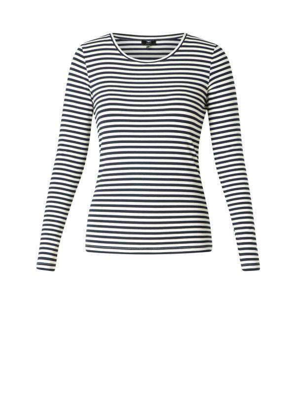 YEST Gunes shirt stripe white dark blue_1