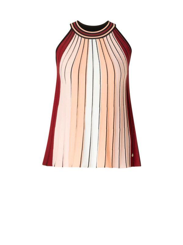 YEST Ingeborg top stripe pastel coral_1