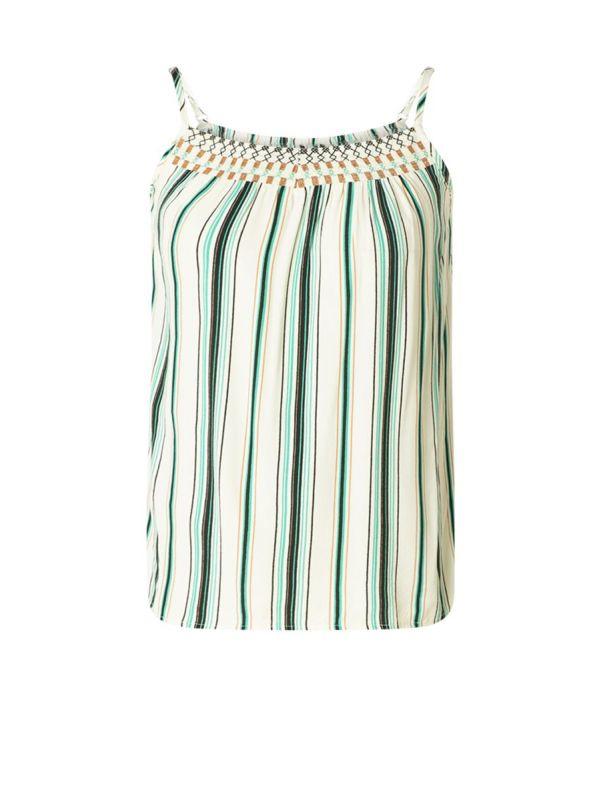 YEST Kaylee top stripe jungle green_1