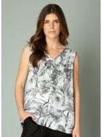 YEST Ilza blouse shirt black white_2